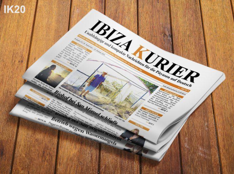 IBIZA KURIER 20/2014 - Aktuelle Nachrichten über Ibiza: Blaue Zone San Antonio, Wasserverluste, Überfall auf Geldtransport, Rauch im Flugzeug, neue Inselräte, Heizkraftwerk, Unfall: Arm ab, Marco Polo Piratenboot, Segnungen, Film Amnesia, Bodypainting Contest