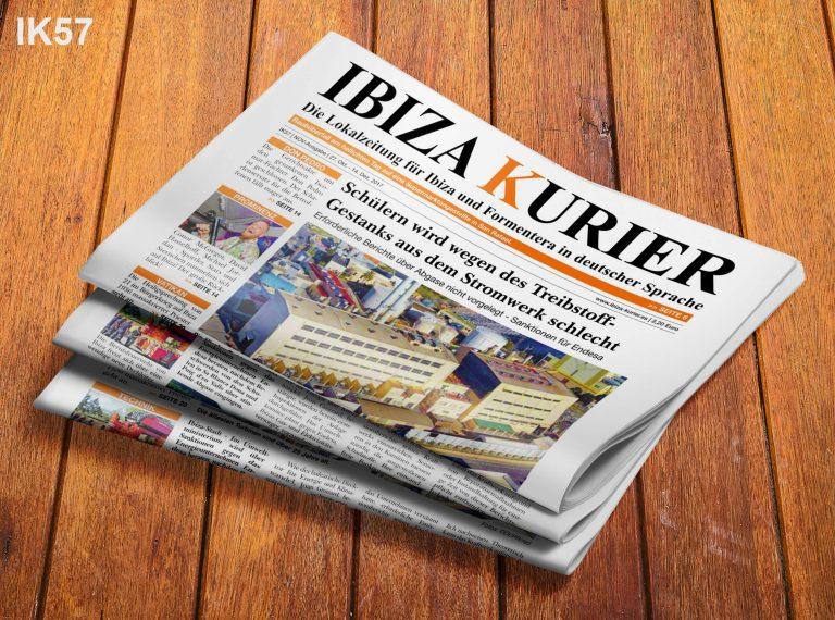 IBIZA KURIER 57/2017 - Aktuelle Nachrichten über Ibiza: Illegale Algerier, Fahneneid, Immobilien-Preise, Don Pedro, Solarenergie, Salzernte, Kuhreiher, Edel Rehbold Interview, Massaker, Promi-Rückblick, Privatinseln, Jäger, Hard Rock Hotel, Auslandsdeutsche