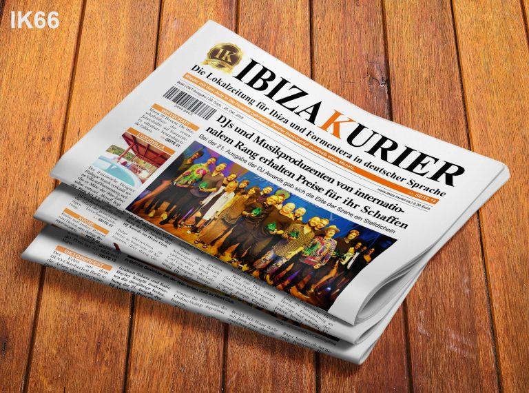 IBIZA KURIER 66/2018 - Aktuelle Nachrichten über Ibiza: Banküberfall, Rolex-Diebesbande, Meckerecke, DJ Awards, Philippe Starck-Villa, Exorzist, Hundeseminar, Yoga-Spezial, Muränensterben, Raors-Fische, Junggesellenausflüge, Jungbrunnen Ibiza, Kürbis-Rezepte