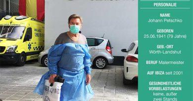 Sieben Tage schwebte Hans Petschko auf Ibiza zwischen Himmel und Erde