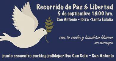 Autokorso für Weltfrieden und Freiheit auf Ibiza am Samstag, 5. September