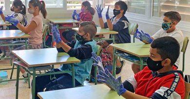 Der Schulalltag auf Ibiza wird dominiert von Abstand, Masken und Desinfektionsgel
