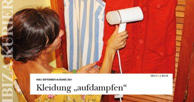 Knitterfrei in den Ibiza-Urlaub – Dampfglätter als praktischer Begleiter