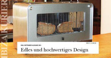 Dem Brot beim Rösten zuschauen – Extravaganter WMF Lono Glas-Toaster