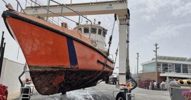 Wrack eines Seenotrettungsboots soll fit gemacht werden fürs Schifffahrtsmuseum